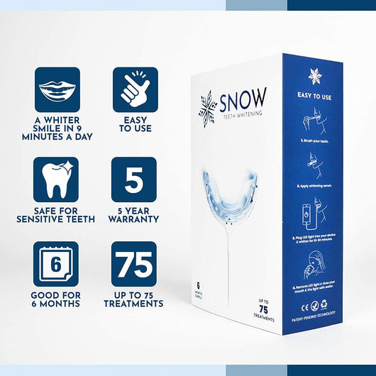 SNOW Teeth Whitening + 6-Month Toothpaste Bundle