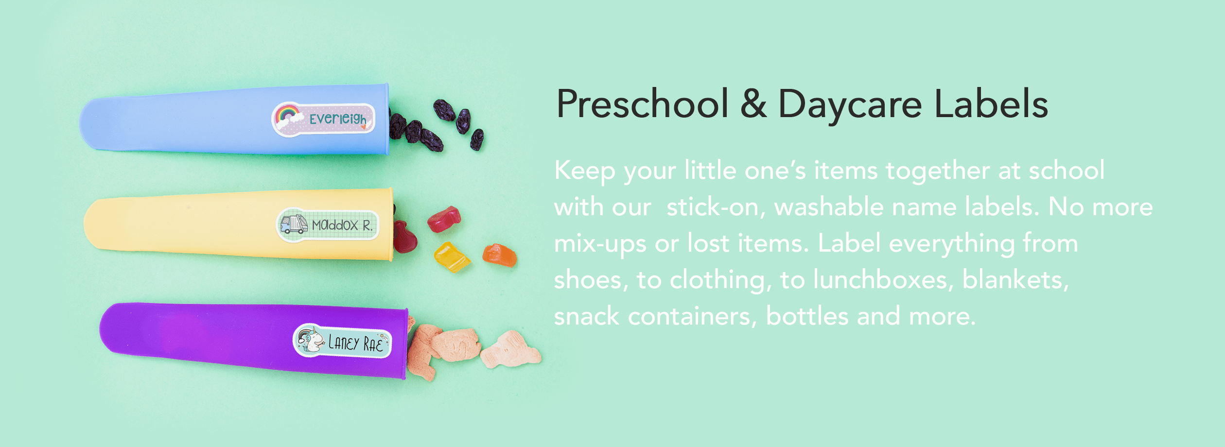 Preschool & Daycare Labels & Stickers