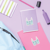 Fantasy Castle Die Cut Name Labels on School Notebooks
