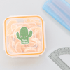 Cutie Cactus Die Cut Name Label on Snack Box