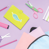Narwhal Die Cut Name Label on School Supplies
