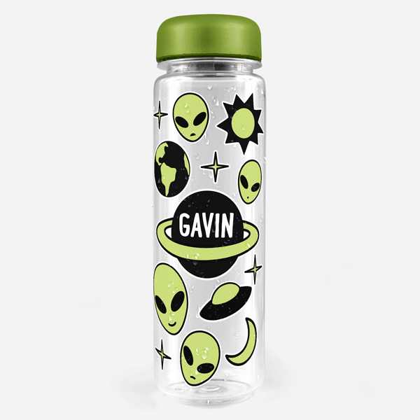 Alien Water Bottle Labels