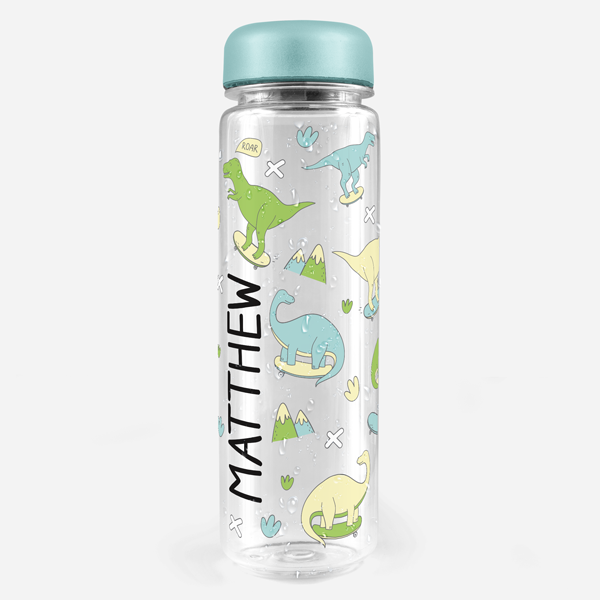 Skater Dinos Water Bottle Labels