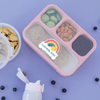 Over the Rainbow Die Cut Name Label on Bento Box