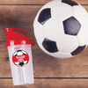 Soccer Ball Die Cut Name Label on Reusable Water Bottle
