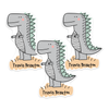T-Rex Die Cut Name Labels
