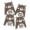 Happy Bear Die Cut Name Labels