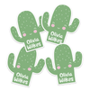 Cutie Cactus Die Cut Name Labels