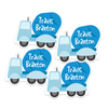 Cement Truck Die Cut Name Labels