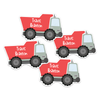 Four Die Cut Dump Truck Name Labels