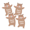 Dancing Bear Die Cut Name Labels