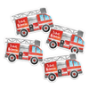 Fire Engine Die Cut Name Labels