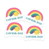 Over the Rainbow Die Cut Name Labels