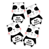 Cheerful Panda Die Cut Name Labels