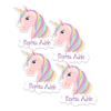 Unicorn Sparkle Die Cut Name Labels