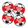 Soccer Ball Die Cut Name Labels