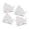 Royal Whale Die Cut Name Labels