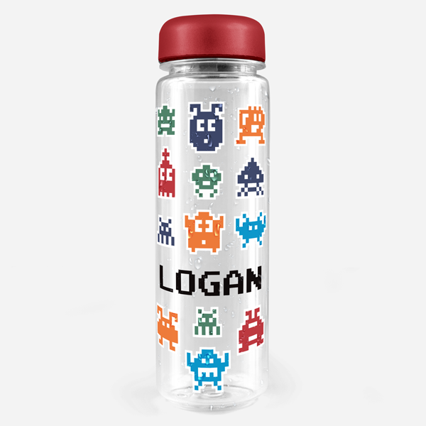Retro Gamer Water Bottle Labels