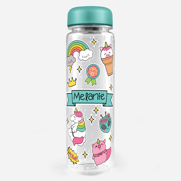 Unicorn Friends Water Bottle Labels