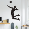 Black Vinyl Spike It! Volleyball Wall Decal