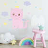 Large Angelic Kitty Wall Decal Set