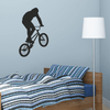 Black Vinyl BMX Rider Wall Decal