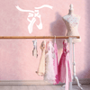Ballet Slippers Name Decal