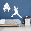 Baseball Battery Wall Decal