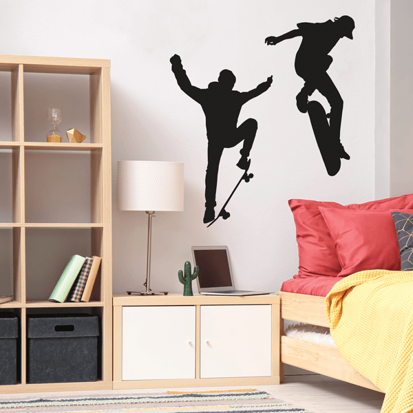 Black Vinyl Board Tricks Wall Decals
