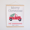 Christmas Truck Canvas Banner