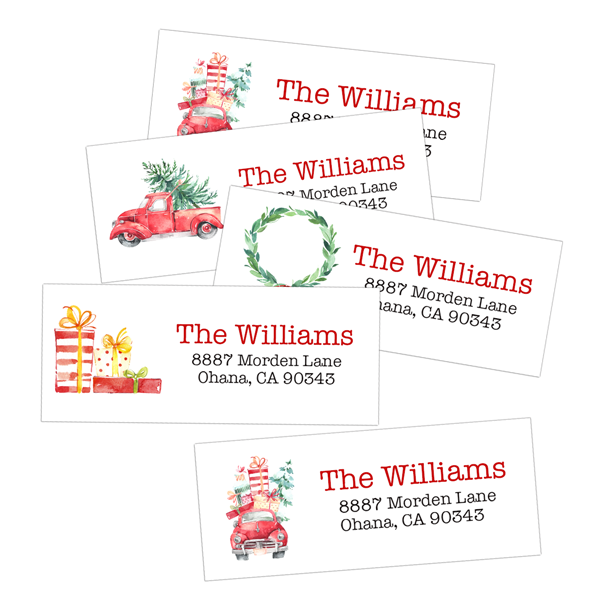 classic christmas return address labels labeldaddy