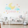 Cloud and Moon Wall Decal Set