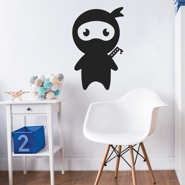 Cute Cartoon Ninja Vinyl Wall Decal