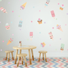 Happy, Fabric Ice Cream Wall Decals