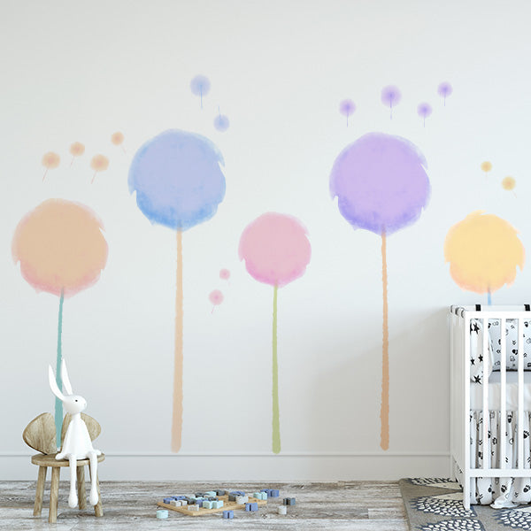 dandelion tree wall decals – labeldaddy