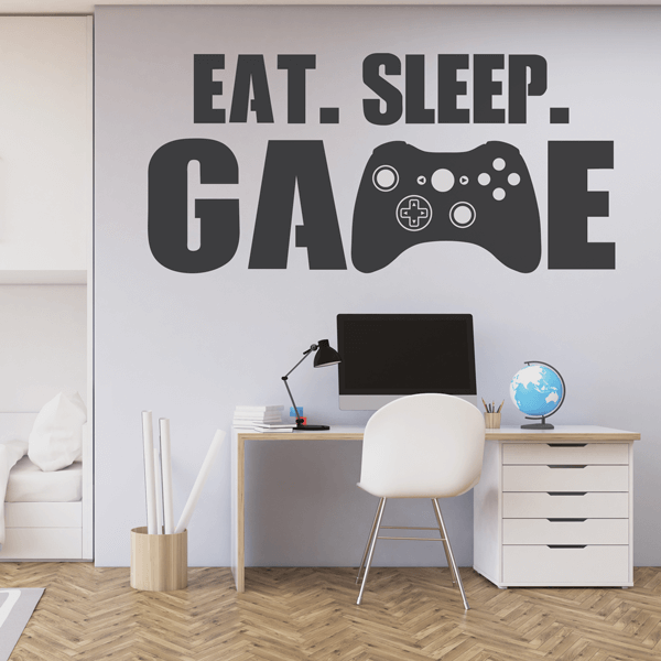 Eat Sleep Game Vinyl Wall Quote