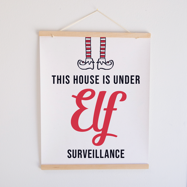 Elf Watch Canvas Banner