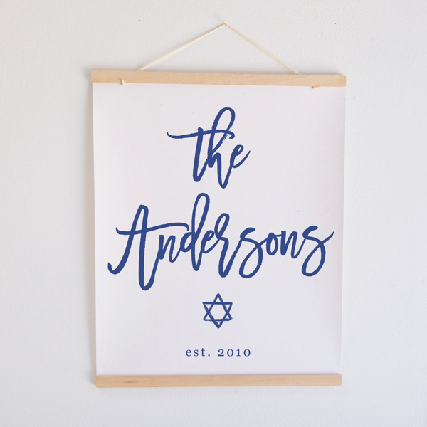 Jewish Family Name Canvas Banner