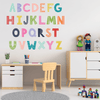 Fanciful Alphabet Fabric Wall Decals