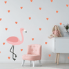 Medium Flamingo W/ Hearts Fabric Wall Decal