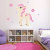 Pretty Floral Pony Fabric Wall Decals
