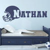 Football Helmet Vinyl Name Wall Decal