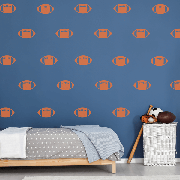 Orange Vinyl Football Wall Decals