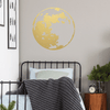 Gold Vinyl Full Moon Wall Decal
