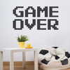 Black Vinyl Game Over Wall Decal Quote