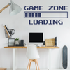 Navy Vinyl Game Zone Loading Wall Decal Quote