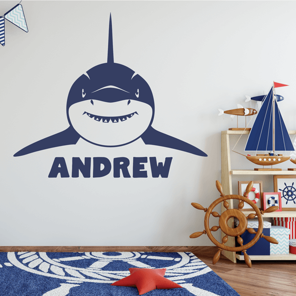 Great White Shark with Name Vinyl Decal