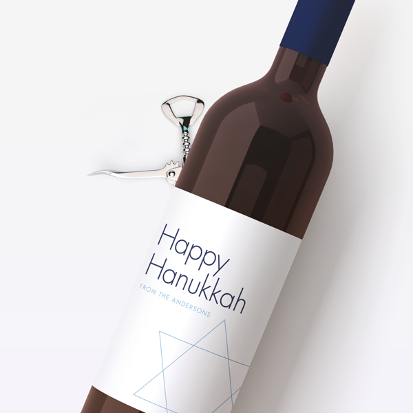 Happy Hanukkah Wine Labels