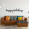 Happy Holidays Decal