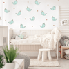 Happy Cartoon Narwhal Fabric Wall Decals